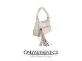 Chanel White Leather Tassel Shoulder Bag