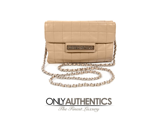 Chanel Beige Lambskin Double Gusset Cross-body Bag