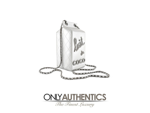 Chanel Silver Lait de Coco Bag