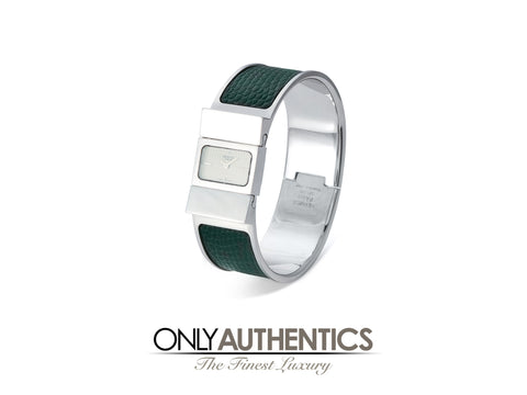 Hermès Green Lizard Loquet Watch