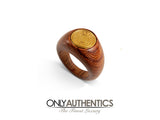 Hermès Wood and Gold  Ring size 5