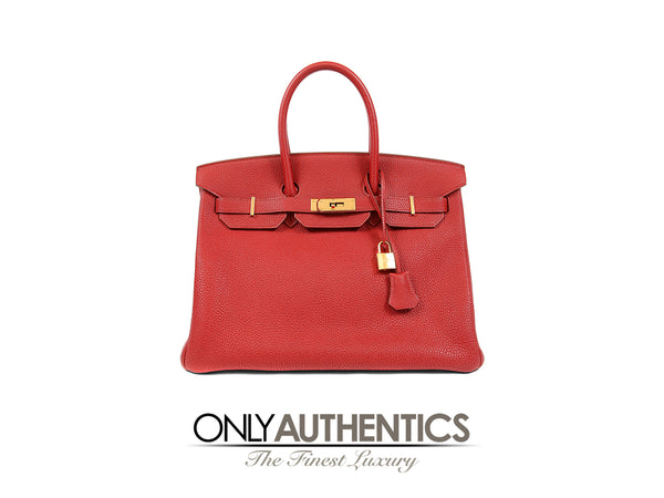 Rouge H Togo 35 cm Horseshoe Birkin Bag
