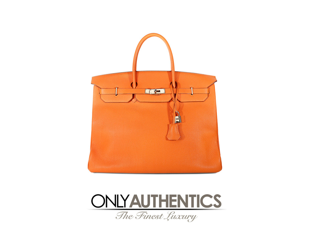Hermès Orange Togo 40 cm Birkin Bag