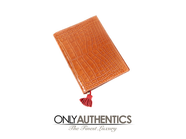 Barenia Tanned Alligator Agenda Cover