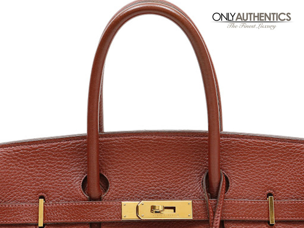 hermes bag cost - Herm��s Brique Red Clemence 35 Cm Birkin With Ghw �C Only Authentics