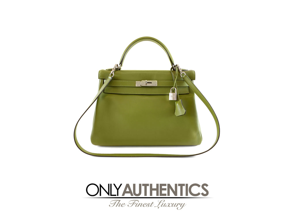 Hermès Vert Anis Green Swift 32 cm Kelly