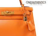 Hermès Orange Swift Leather 28 Cm Kelly Bag