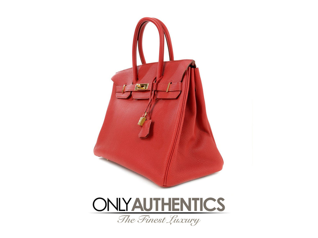 acdf650cd6 hermes red leather 35 cm birkin bag- red togo with gold hardware