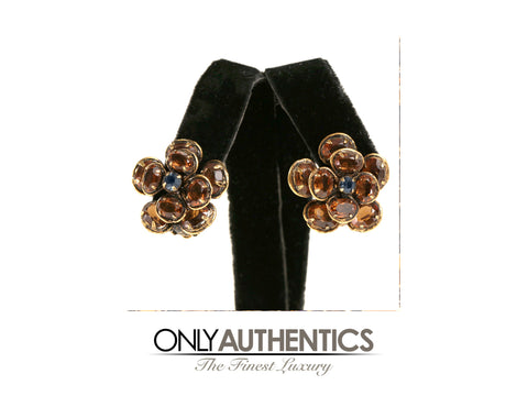 Iradj Moini Citrine Crystal Flower Clip On