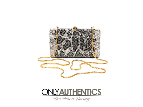 Leopard Crystal Minaudiere Evening Bag