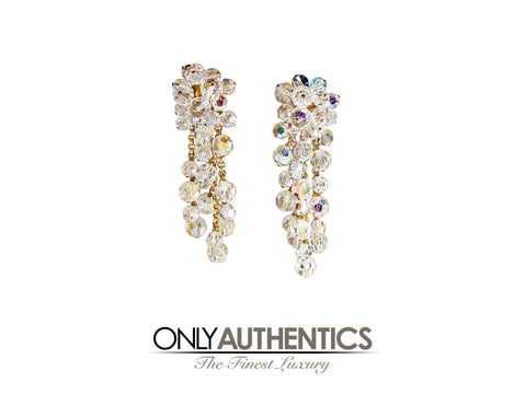 Chanel Iridescent Beaded Dangle Earrings