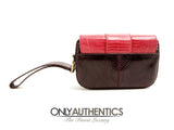 Tod's Purple Python and Red Lizard Wristlet