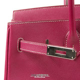 Hermès Raspberry Epsom 35 cm Birkin with Rose Tyrien Interior