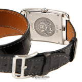 Hermès Cape Cod Watch with Grey Crocodile Double Tour Band