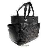 Chanel Black Coated Canvas Biarritz XL Tote