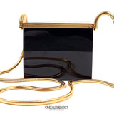 Black Resin Evening Bag