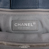 Chanel Navy Leather Cerf Tote