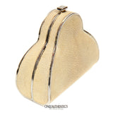 Beige Stingray Cross Body Evening Bag