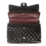 Chanel Black Lambskin Jumbo Classic Double Flap Bag