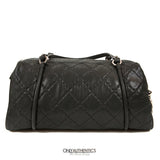 Chanel Black Lambskin Bowler Bag