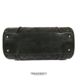 (N) Black Lambskin Bowler Bag