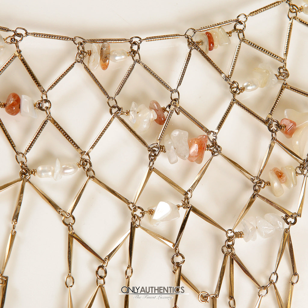 ca7904fc04f Gold Net Dripping Chain Necklace Belt – Only Authentics