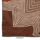 Brown Turquoise  Coupons Indiens 90 cm Silk Scarf