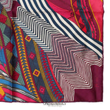 Hermès Fuchsia Burgundy Coupons Indiens Pocket Square Silk Scarf
