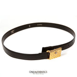 Chanel Black Leather Purse Buckle Belt
