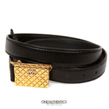 Black Leather Purse Buckle Belt