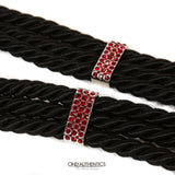 Black Rope Belt with Ruby CC Buckle