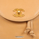 Chanel Camel Caviar Large Vintage Backpack