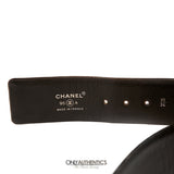 Chanel Black Satin Bow Belt size 85/34