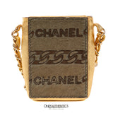Chanel Gold Mini Pochette Evening Bag