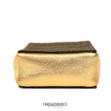 Gold Mini Pochette Evening Bag