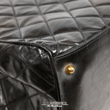 Vintage Black Leather Super Model Weekender