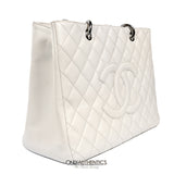 Chanel White Caviar GST Grand Shopper