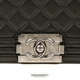 Chanel Black Lambskin Jumbo Boy