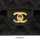 Black Caviar Classic Small Double Flap Bag