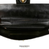 Black Patent Leather Vintage Briefcase