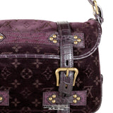 Louis Vuitton Eggplant Monogram Velours Clyde Bag