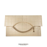Chanel Beige Leather Envelope Four Chain Convertible Clutch