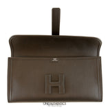 Hermès Black Swift Calfskin Jige Elan 29 Clutch