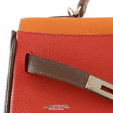 Hermès Tricolor Togo 32cm Limited Edition Kelly