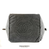 Chanel Slate Grey Quilted Canvas  XL Tote