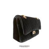 Chanel Black Velvet Medium Reissue Bag