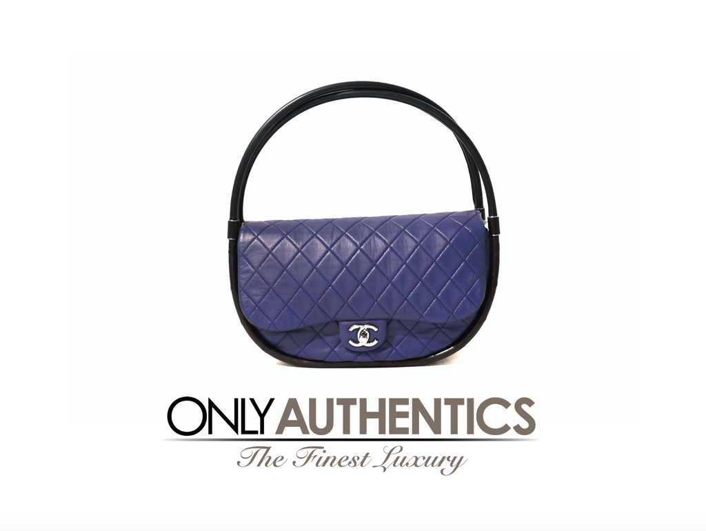 Chanel Cobalt Blue Hula Hoop Bag