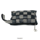 Chanel Black Lambskin and Swarovski Crystal Wristlet