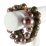 Chanel Tri Color Triple Row Bracelet