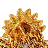 Chanel Gold Lion on Sun Chain Mail Bracelet